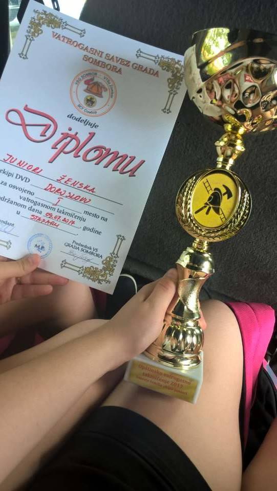 ÖTT-Doroszló: a büszke 1. helyezett lányok csapata- Müller Nikolett fotója