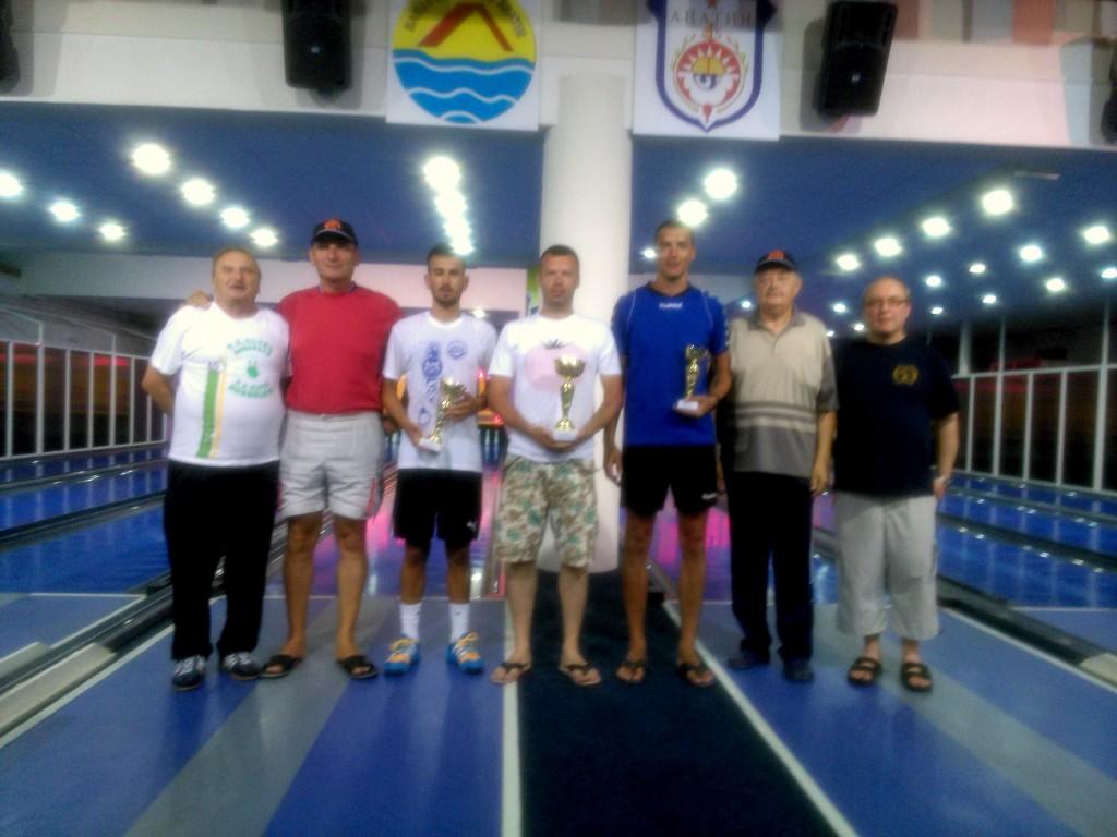 Nyílt bajnokság- első 5 helyezett