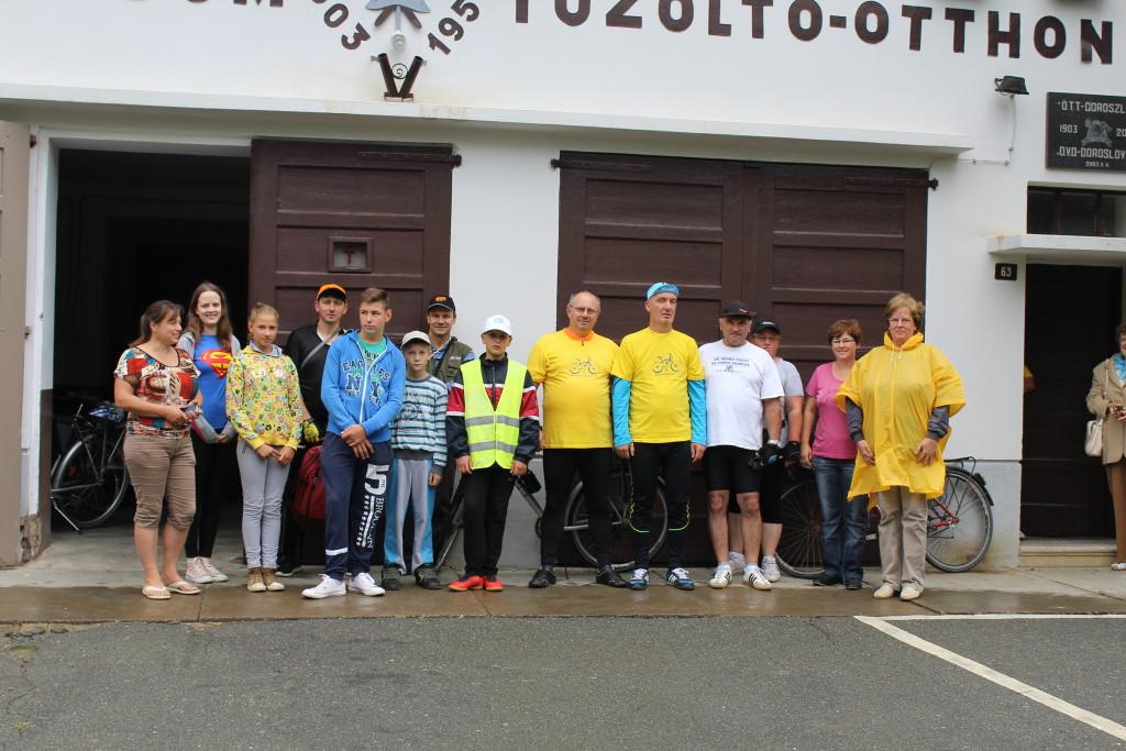 a Doroszló-Bike túrázói