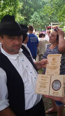 Toldi István a Szeder Fábián- díjas népmesemondó
